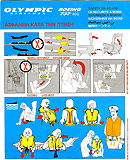 Olympic Airlines Boeing 737-400 Safety Card