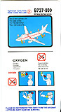 Turkish Airlines Boeing 737-800 Safety Card