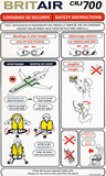 Brit Air Bombardier CRJ700 Safety Card