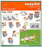 EasyJet Boeing 737 Safety Card