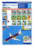 Hellas Jet Airbus A320 Safety Card