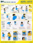 Cebu Pacific Air A319/A320 Safety Card