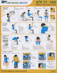 Cebu Pacific Air ATR 72-500 Safety Card